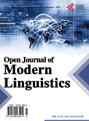 Open Journal of Modern Linguistics 现代语言学
